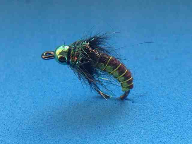 Sold per 3 New Chartreuse Flashback Good Producer! Bass Gurgler 1//0 Size