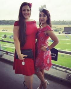 ascot red dress