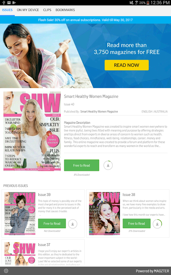 Smart Healthy Women Magazine- screenshot