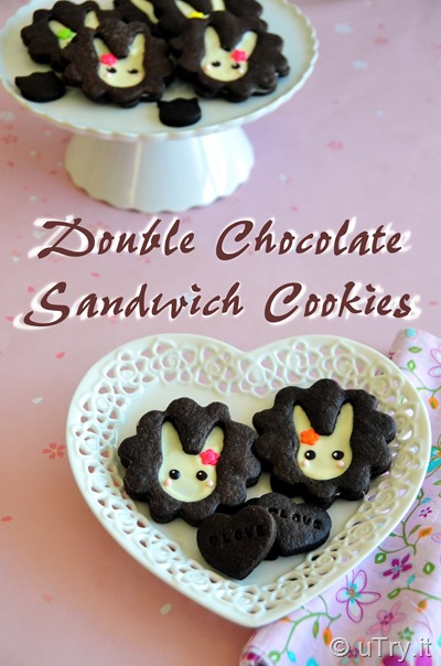 Double Chocolate Sandwich Cookies 黑白朱古力夾心曲奇餅  http://uTry.it