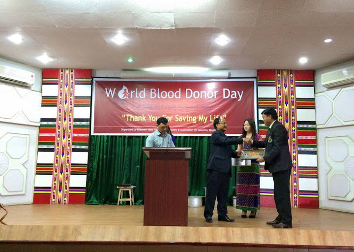 PUC awarded first prize for Voluntary blood donation 2014-15