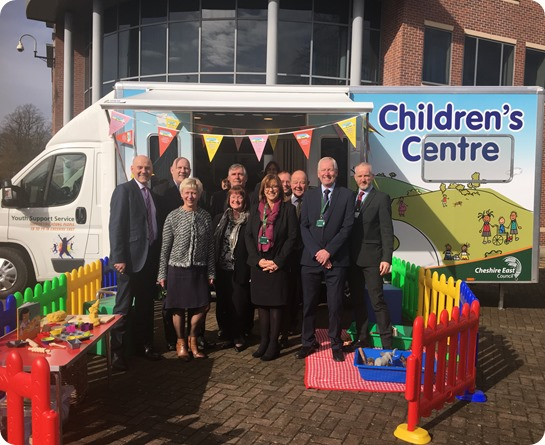 Mobile Children's Centre launched by Leader of Cheshire East Council