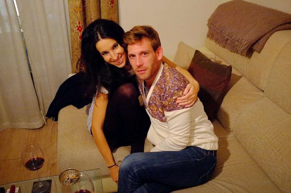 gorgeous couple in sofa