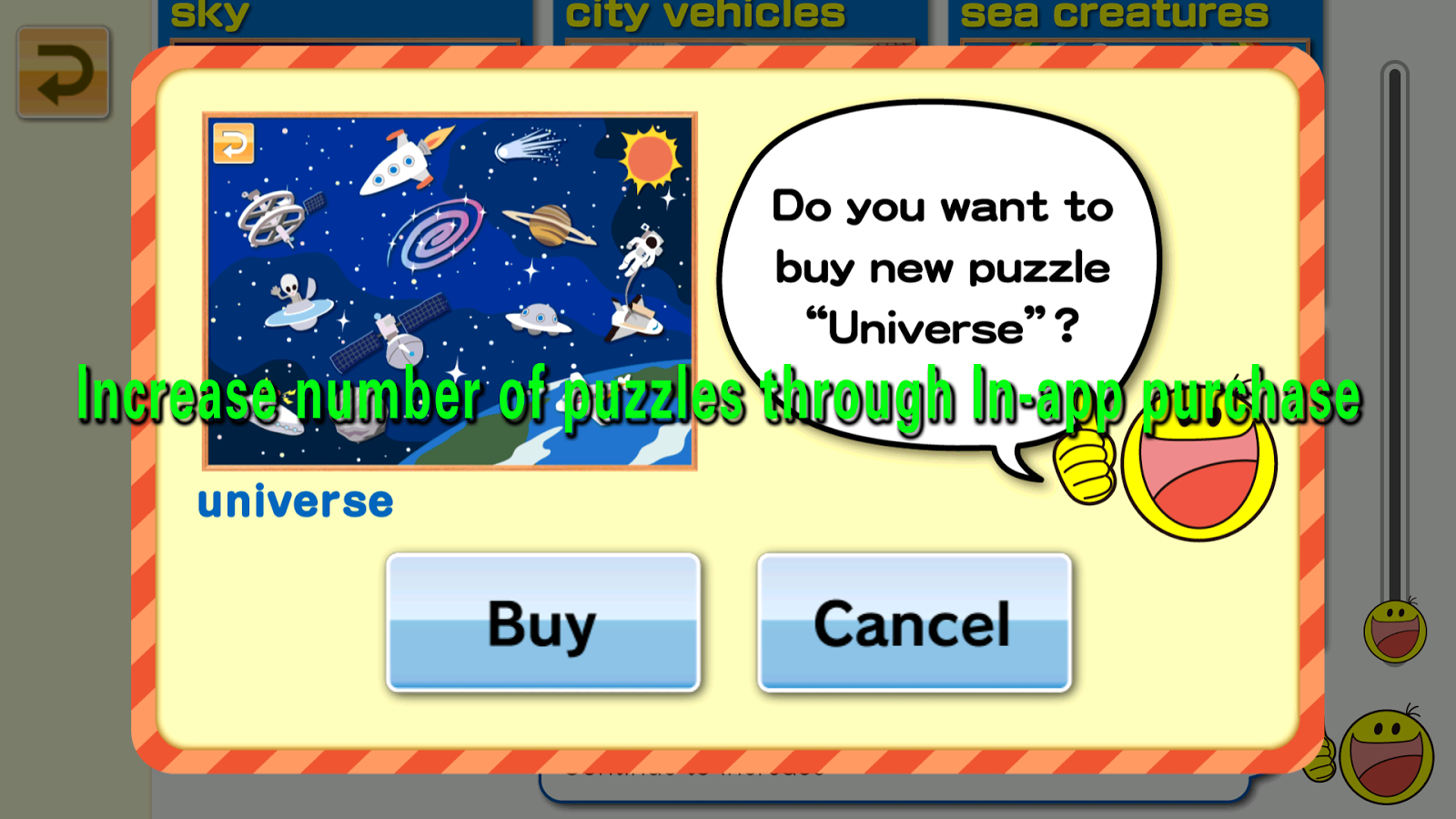 Moving Jigsaw Puzzle Kids app- screenshot