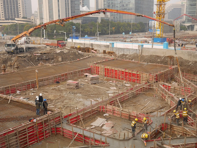 Construction site next to Puji Road and Guangfu Road in Shanghai