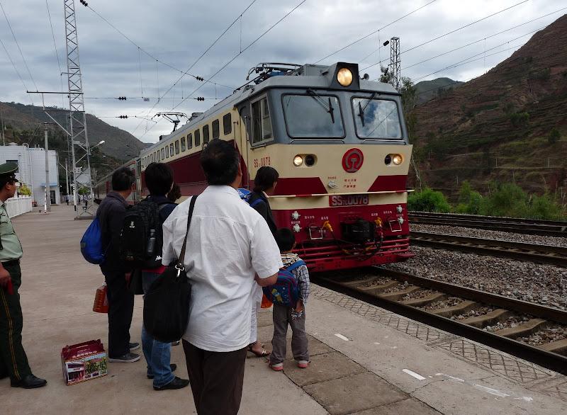 retour vers Kunming, seulement trois heures de train...