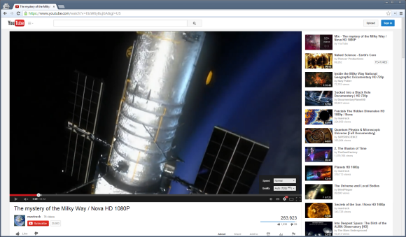 YouTube Player mit Experiment