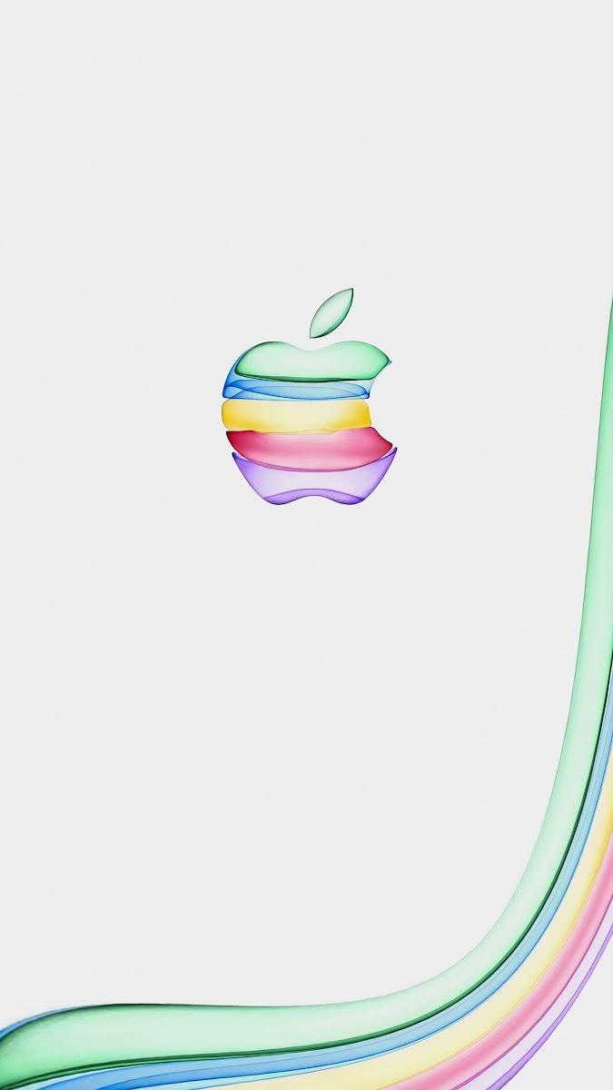 Iphone11イベントのappleロゴにインスパイアされた壁紙が多数 こぼねみ