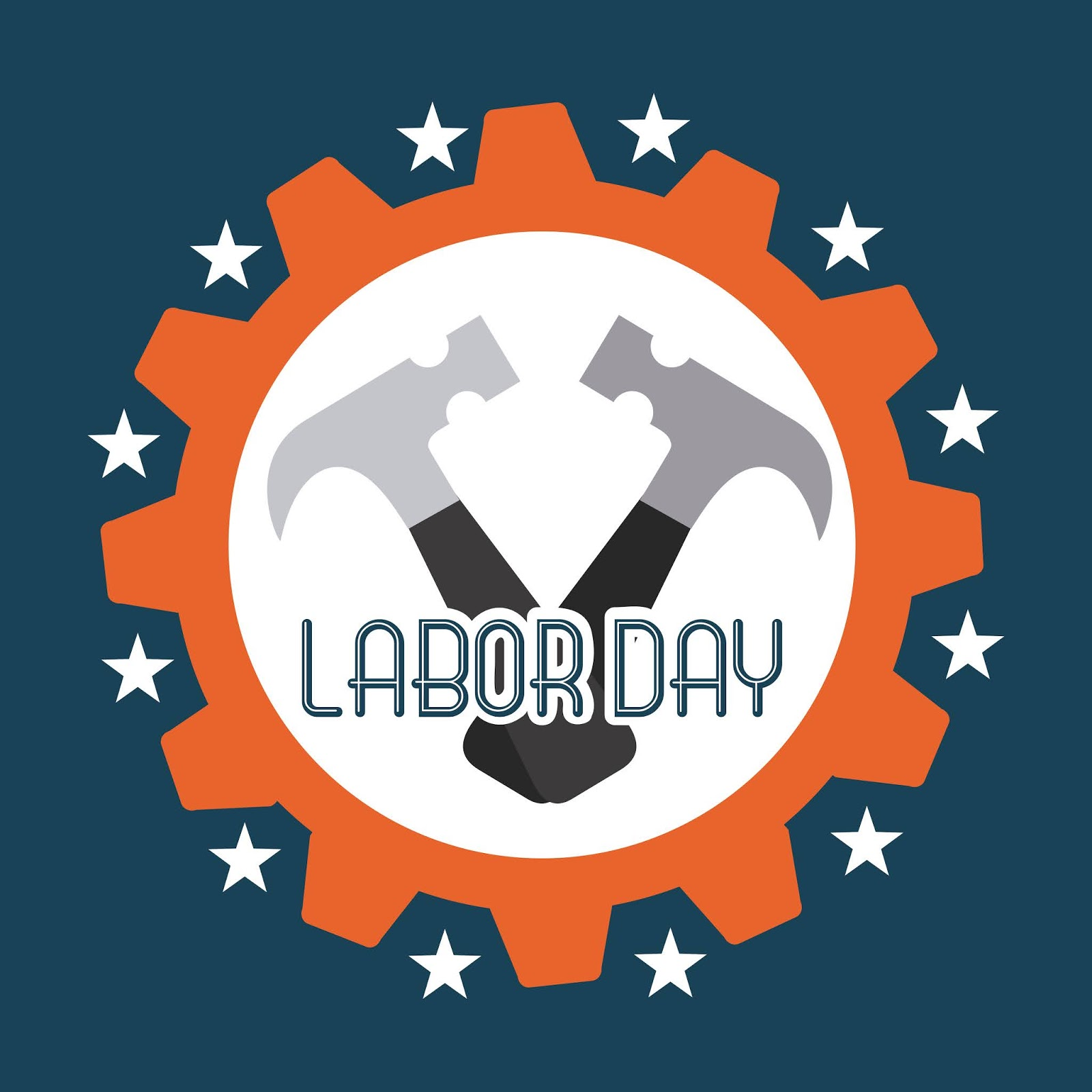 Labor Day Design Blue Background Vector Illustration	 Free Download Vector CDR, AI, EPS and PNG Formats