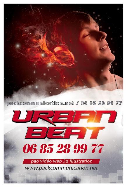 création flyers soirées thème Urban Beat