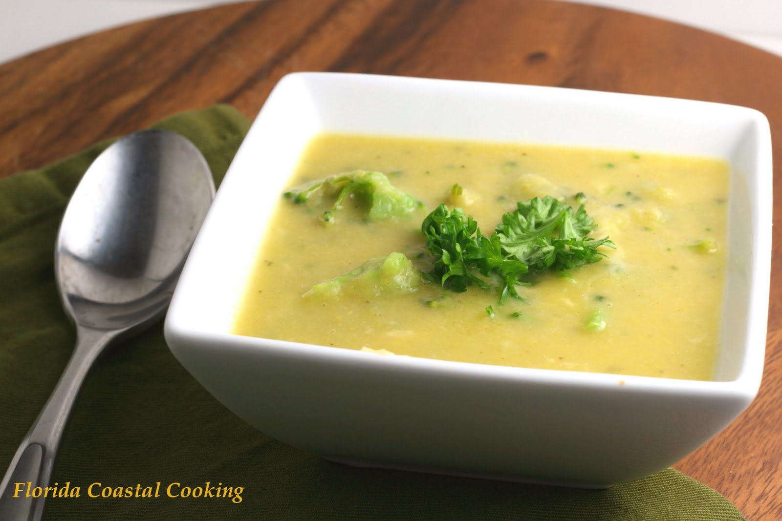 Creamy Broccoli Cheese Soup with Cauliflower and Cannellinis - Florida ...