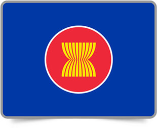 ASEAN framed flag icons with box shadow
