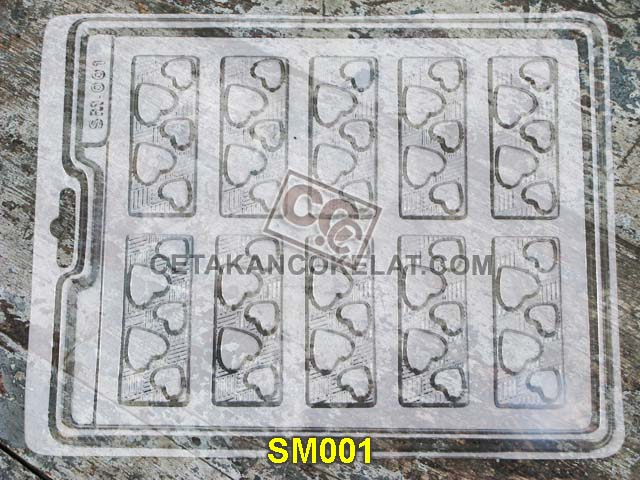 cetakan coklat cokelat SM001 wafer love SM01 SM1 mold mould