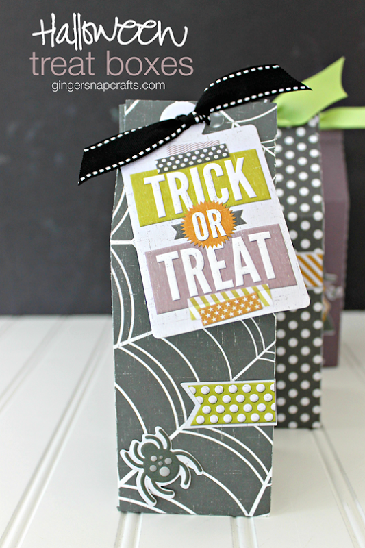 Halloween Treat Boxes at GingerSnapCrafts.com #wermemorykeepers #lifestylestudios