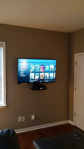 Tv Wall Mounting Charlotte Nc Flat Screen Tv Mounted With Component