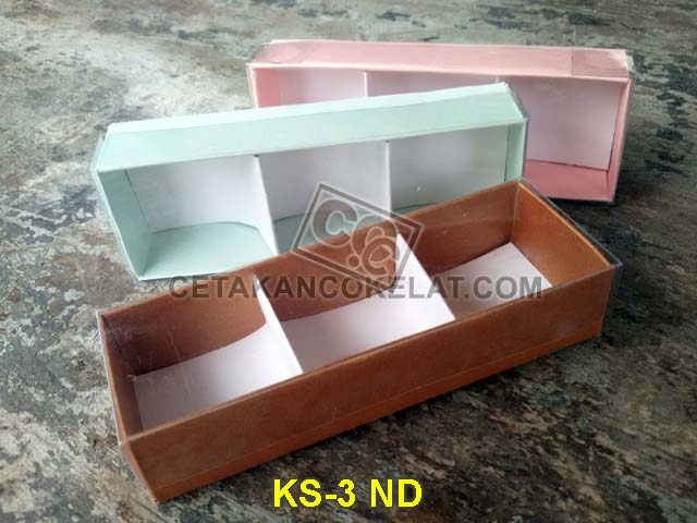Mika kotak sekat coklat cokelat KS-3 ND