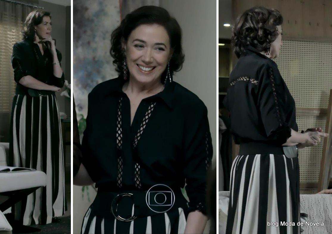 moda da novela Império, look da Maria Marta dia 25 de outubro