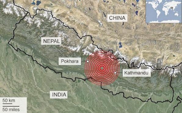 Tam chan cua dong dat nam tai khu vuc giua thu do Kathmandu va thanh pho Pokhara Do hoa