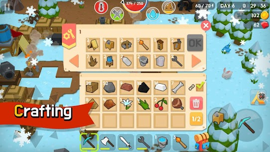 Mine Survival MOD Apk (Free Shopping) 2