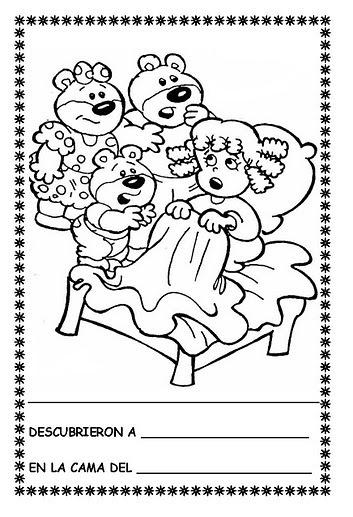 Dibujos Para Colorear De Ricitos De Oro Y Los Tres Osos