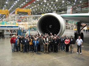 Photo: Another Group in the Factory in front of the GE90