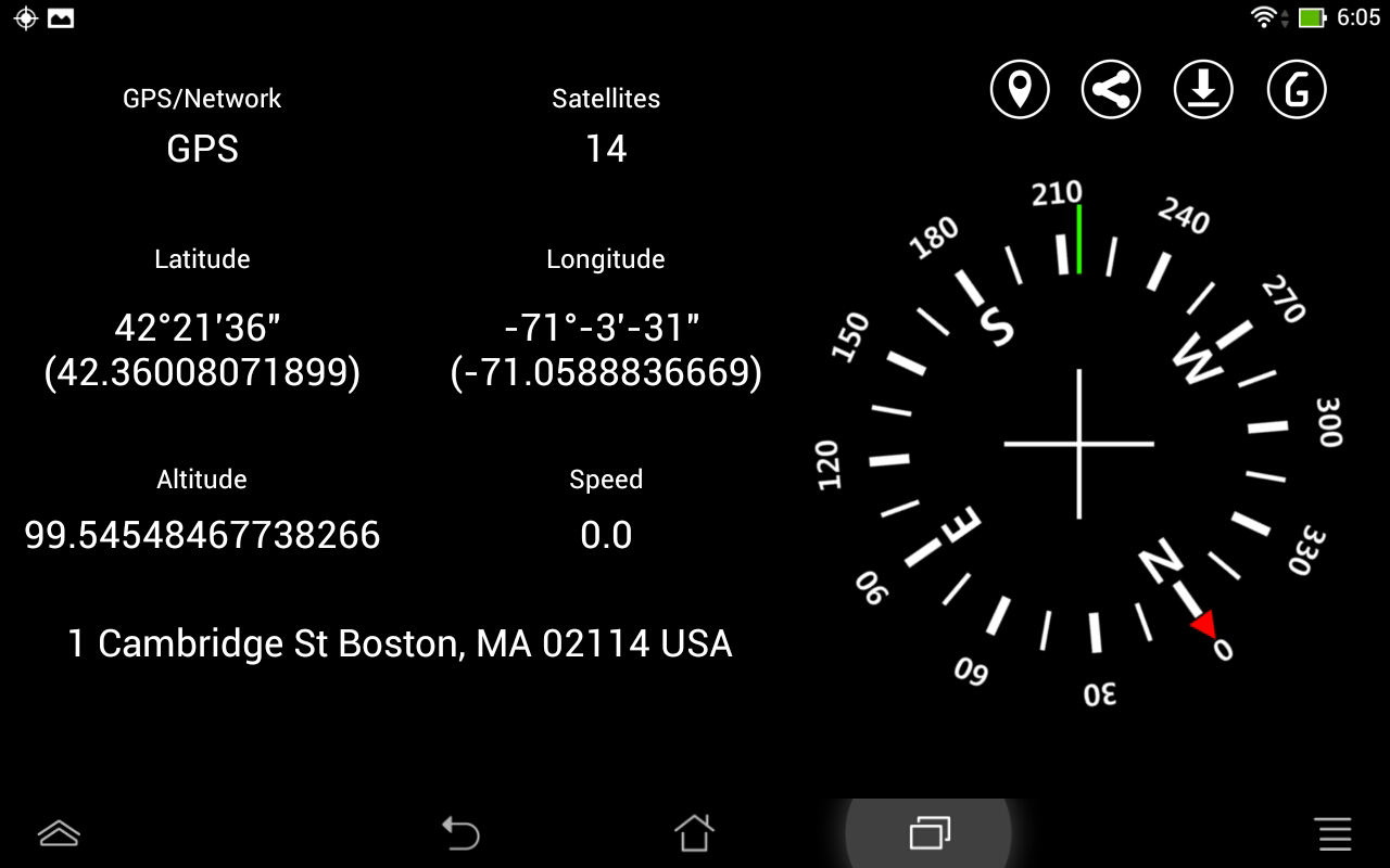 Gps coordinate display pro screenshot