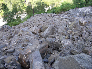 Photo: Landslide on the road to Kodari