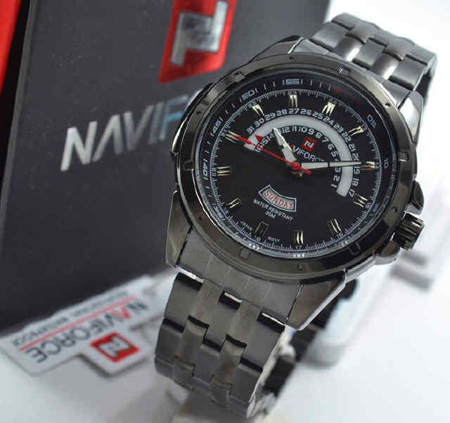 Jual jam Naviforce NF9058 full black