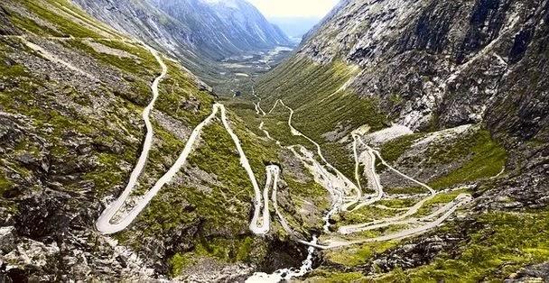 Mountain roads in Norway