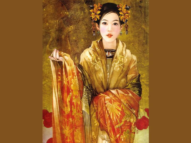 Samurai Beauty One Hand Up, Magic Samurai Beauties