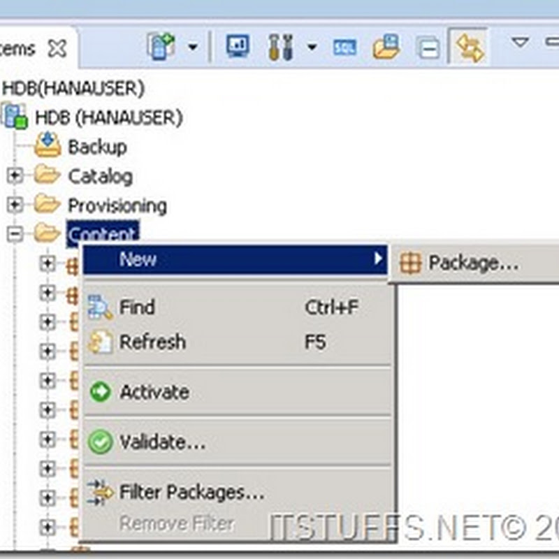 Creating Package in SAP HANA