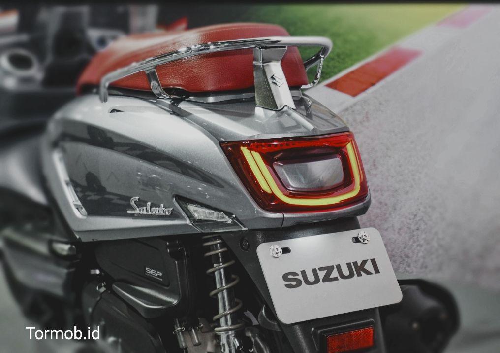Lampu headlamp Suzuki saluto
