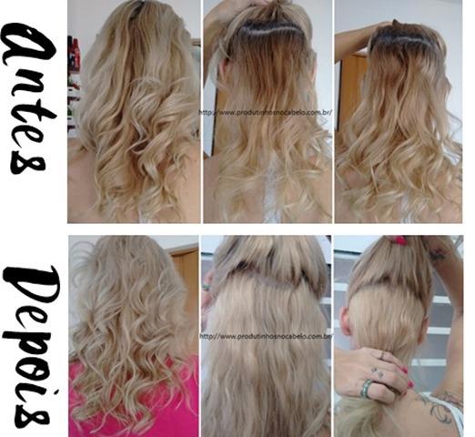 antes e depois descoloração