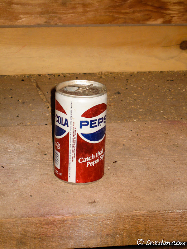 A relic from back in the day when Pepsi only had 7 ingredients!