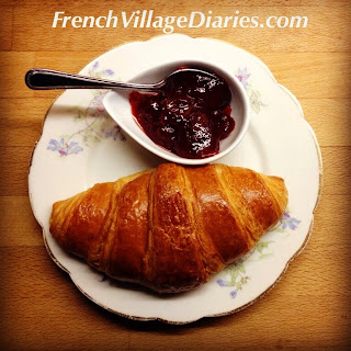 French Village Diaries croissant day food France boulangerie
