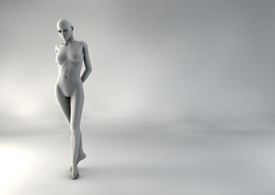 femme 3D pose naturelle SP 13