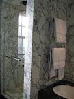 Arabascato marble & Belgian Fossil marble