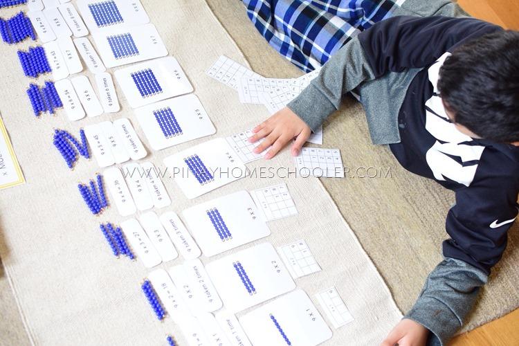 Montessori Multiplication Learning Materials