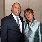 Governor Deval Patrick with First Lady of the Commonwealth of Massachusetts Diane Patrick (Ropes & Gray LLP)