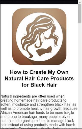玩免費健康APP|下載天然護髮秘訣自然的髮型技巧的內容得到這個應用 app不用錢|硬是要APP