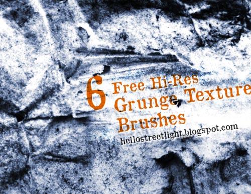 Hi-Res Grunge Texture Brushes