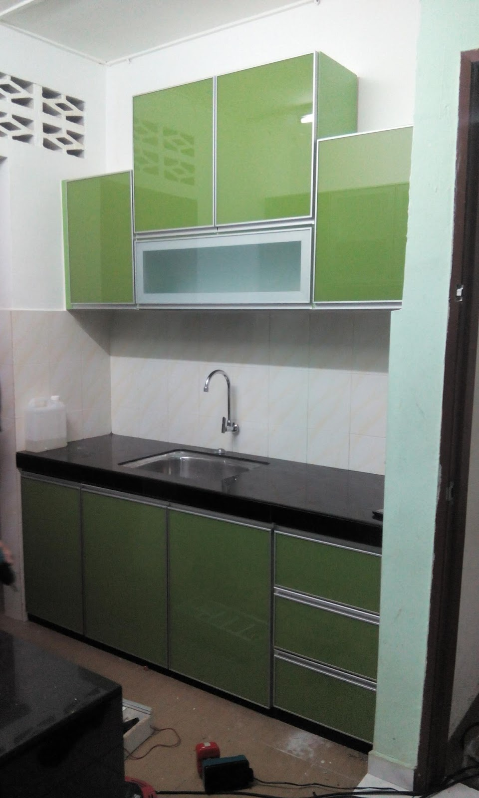 Kabinet Dapur Terus Dari Kilang 3g Gl Hijau Di Ampang