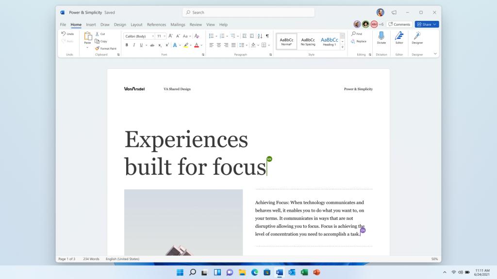 Microsoft Office aggiornato con il nuovo stile di Windows 11