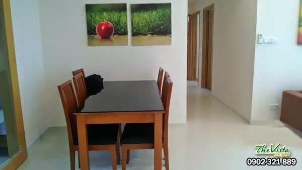 Cho thuê căn hộ 3 phòng ngủ căn hộ the vista q2 giá gốc