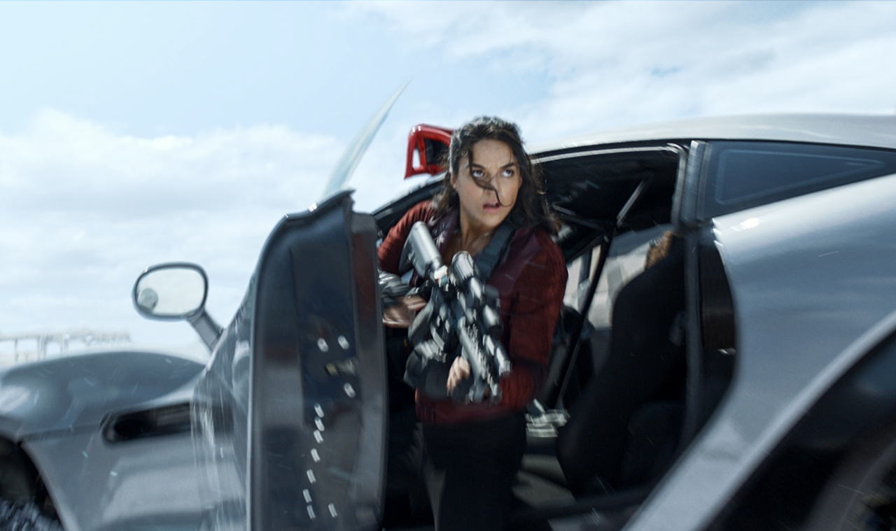 Michelle Rodriguez in THE FATE OF THE FURIOUS. (Photo courtesy of Universal Pictures).