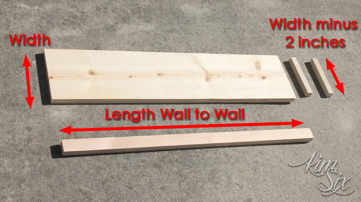 Lumber dimensions for floating shelves