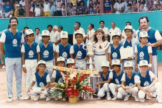 Selección categoría menor de Sabinas Hidalgo en 1986