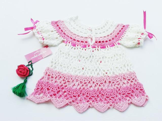 Dress Rajut, Dress Rajut Bayi, Dress Bayi, Dress Bayi Rajutan, Crochet Baby Dress, Crochet Dress