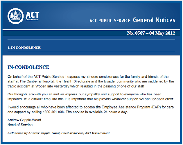 act ps general notice