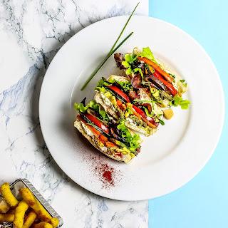 Veggie Club Sandwich.